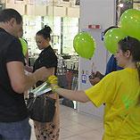 Promo-activity for Volia at Kyiv shopping malls